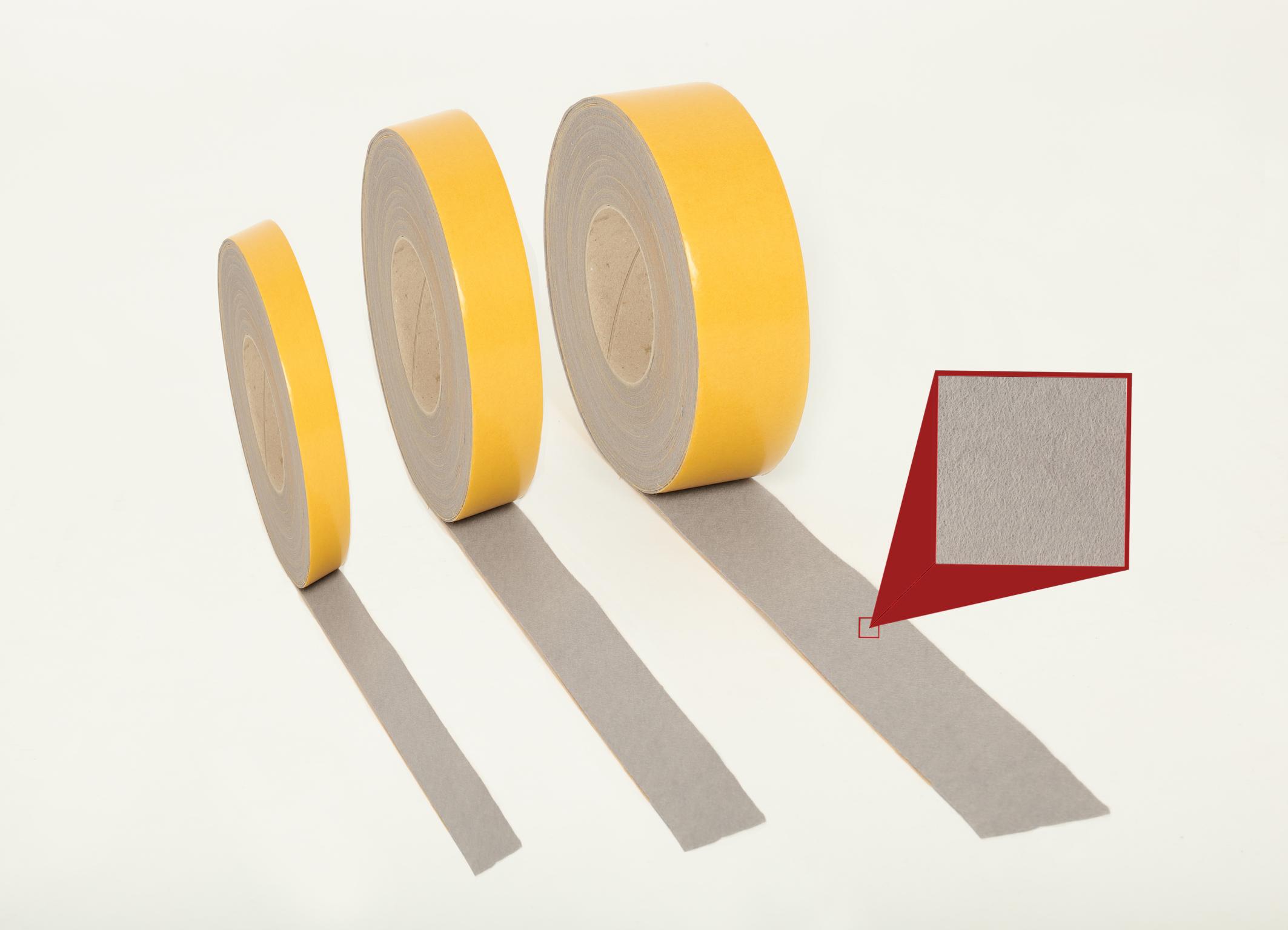 Filzstreifen schwarz Breite 30 mm Filzband selbstklebend 1 m Filzstreifen